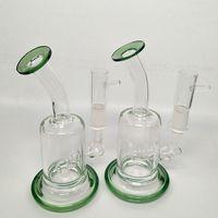 ölpfeife preisgestaltung groihandel-Günstigen Preis Mini Glas stumpfen Bong Wasserpfeife Recycler Bong Dab Rig Öl Pfeife Eis Klar Bend Bong