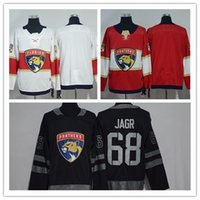 2018 Florida Panthers Newest Hockey 1 Roberto Luongo 16 Aleksander Barkov 5  Aaron Ekblad Red And Black Jerseys 917476d93