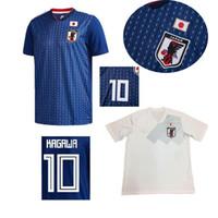 Wholesale japan 18 - 2018 world cup Japan Soccer Jersey 18 19 Japan Home blue Away white soccer Shirt #10 KAGAWA #9 OKAZAKI #4 HONDA football uniform