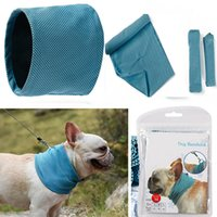 Wholesale dog bandana medium for sale - Group buy Dog Ice Cooling Bandana Pet Cat Scarf Summer Breathable Cooling Towel Wrap Blue Bows Clothing Accessories HH7