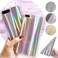 Wholesale Bling Phone Designs - Laser Holographic Phone Case Sparkle Bling Glitter Shiny Design Cover For iPhone 8 7 6s 6 plus VIVO X20 OPPO R11 Plus Opp