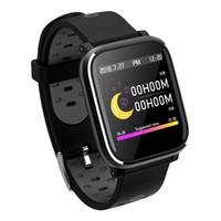 pulso assistir mulheres venda por atacado-2018 Mais Novo Pressão Arterial Relógio Inteligente Dos Homens Dos Esportes de Pulso Taxa de Coração Relógios Banda de Natação Mulheres relógio de pulso À Prova D 'Água Relógio Despertador