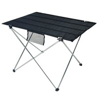 Wholesale portable aluminium table resale online - Portable Folding Table for Camping Outdoor Activties Lightweight Aluminium Alloy Foldable Picnic Barbecue Desk Folding Table