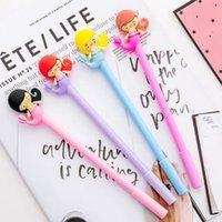 stylo kawaii rose achat en gros de-4 pcs mignonne bande dessinée sirène rose fille étudiant gel stylo kawaii papeterie écriture stylos canetas matériel escolar bureau