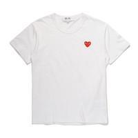 camisa branca japonesa venda por atacado-Mens designer camiseta japonesa pulôver TEE off vermelho branco de manga curta com olhos de coração T-shirt jaquetas de grife vetements