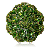 золотые клатчы оптовых-Women Evening Bags red Ladies Party wallets Clutch Bag green Female Gold Crystal Wedding bridal Purses silver Day Clutches lady