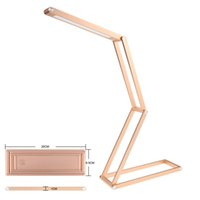Wholesale contemporary tables - 2016 Aviation-Grade Table Light Aluminum Ultra-light Desk Lamp Book Light With Wireless Desktop Recharger USB Table Lamp
