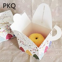 10pcs lot christmas gift box with handles folding white cake box christmas apple packaging box christmas tree ornaments 9 29