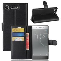 Wholesale z5 premium case online - Litchi Flip PU Leather Wallet Case With Card Slot Stand Holder For SONY Z5 Premium C5 XA Ultra XZ XA1 XZ1 Compact XA2 L2