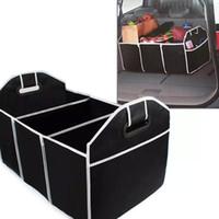 accesorios canes al por mayor-Cajas de almacenamiento de coches plegables Bins Trunk Organizer Toys Cosas de alimentos bolsas de contenedores de almacenamiento Auto Accesorios interiores Case Can FBA Ship HH7-472