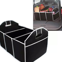 Wholesale fabric trunks - Foldable Car Storage Boxs Bins Trunk Organizer Toys Food Stuff Storage Container Bags Auto Interior Accessories Case Can FBA Ship HH7-472