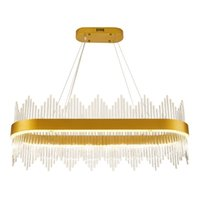 Wholesale crystal iron chandelier - New comming!!Modern Crystal Chandelier Rectangle Luxury Dining Room Suspension Luminaire Home Decoration LED Hang Lighting Fixture