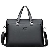 Wholesale file briefcase online - New Kangaroo Man s Briefcase Business Leisure Man s Single Shoulder Slope Computer File Bag Fashion Multipurpose Business Bag