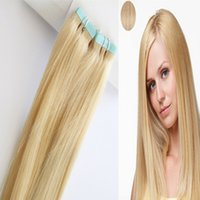 Wholesale I Tip Remy Hair - Elibess Best Selling Remy human hair, Thick Bottom Platinum Blonde color 60# 20 inch tape hair & i tip hair 200g