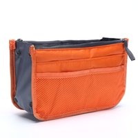 Wholesale green purse organizer insert for sale - High quality Convenient Colors Multi function Handbag Purse Organizer Insert Phone Cosmetic Bag For Travel Bag