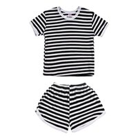 9a3893856 Girls Striped Suits White Black NZ
