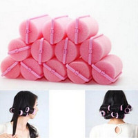 Wholesale hot rollers style - New 12 Pcs Hair Rollers Hot Soft DIY Styling Tools Sponge Hair Styling Foam Hair Rollers Curler Hairdressing tool