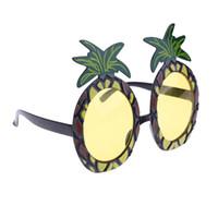 abacaxi do dia das bruxas venda por atacado-Novidade óculos de sol da árvore de natal praia havaiana abacaxi óculos de sol de natal do dia das bruxas traje de festa óculos decorações new hot
