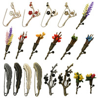 Wholesale african feather hat - British Style Vintage Flower Feather Brooch Pin for Mens Suit Tie Hat Fashion Female Scarf Pin Retro Unisex Party Breastpin Wholesale Broach