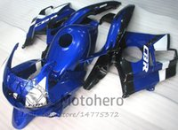 Wholesale 1994 Cbr - Motocycle fairings Blue Black for HONDA CBR600 F2 91 92 93 94 CBR600F2 1991 1992 1993 1994 CBR 600 custom fairings set H4 634r