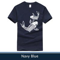Wholesale Blue Carp - Newest Koi Fish T-Shirt, Carp Fish T-shirt,Men's and Women's Shirt,Size:XS-XXL,6 Colors for Choose(Size:XS-XXL)
