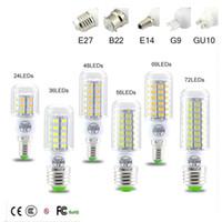 Wholesale lights u resale online - SMD5730 E27 GU10 B22 E14 G9 LED lamp W W W W W V V angle SMD LED Bulb Led Corn light