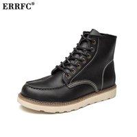 мужская мода лодыжки обувь оптовых-ERRFC New Arrival Mens Black  Boots Fashion Winter Warm Man Brown Motorcycle Ankle Boots Male Platform Trending Shoes 46