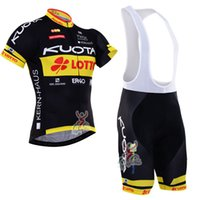 Wholesale Kuota Clothing - 2017 kuota Cycling Jerseys bib shorts set Bicycle Breathable sportswear pro cycling clothes Bicycle Clothing summer MTB Bike wear C2914