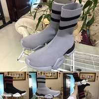 Wholesale Open Toe Socks Women - VETEMENT x Ree Sock Trainer Dropping Casual Shoes Flat Socks Boots Man Woman New Slip-on Elastic Cloth Speed Trainer Runner Shoes eur 36-44