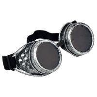 lunettes de soudage steampunk achat en gros de-Lunettes Cyber Soudage Steampunk Goth Cosplay Lunettes Vintage Rustic-Dark Green Noir