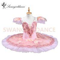 erwachsene schwan kostüm großhandel-Performance Bühne Tutu Kleid BT8978 Rosa Flower Fairy Frauen Erwachsene Professionelle Ballett-Tutu Swan Lake Kostüme Ballerina