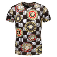 Wholesale used shirt - 2018 Summer New Short-sleeved Korean Version of The Round Collar Sets of Digital Printing Business Casual Dual-use Breathable Men's T-shirt