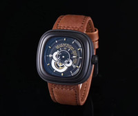 Wholesale cow leather watches - mens watches luxury AAA watch brand new quartz watches square dial authentic cow belt waterproof watch