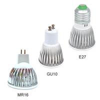 mr16 led lampara de luz regulable al por mayor-Lámpara Led Regulable GU10 MR16 E27 Foco de Luz Led lámparas de downlight con bombilla led