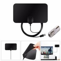 kapalı antenler toptan satış-Düz Kapalı HD Sinyal Amplifikatör Dijital TV Anteni HDTV Dijital HD 50 Miles Aralığı Skywire VHF UHF