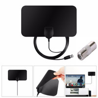 ingrosso amplificatore antenna digitale tv-Flat Indoor HD Signal Amplifier Antenna TV digitale HDTV Digital HD 50 Miglia Range Skywire VHF UHF