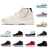 Nike Air Jordan 11 Jordans 11s Retro Cool Gray 11 11s Mens scarpe da  pallacanestro Platinum Tint Cap e Gown Gym Red Midnight Navy donne allevate Space  Jam ... d3a5e3e359d
