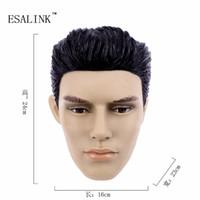 Wholesale Female Mannequin Plastic - Wholesale- Fashionable PVC Female Head Mannequin Plastic Handsome man mannequin Head Model