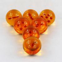 tam figür toptan satış-Rakamlar 7 adet / grup Dragon Ball Z Oyuncaklar 3.5 cm Yeni Box Dragon Ball 7 Yıldız Kristal Dragon Ball Z Topları Komple Set Perakende Eylem