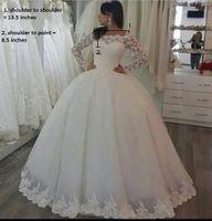 Ball Gown Wedding Dress for sale - 2018 elegant luxury wedding dress wedding gown with sleeves