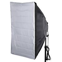 """fotoğrafçılık kelepçe standı toptan satış-Taşınabilir 50 * 70 cm / 20 """"* 28"""" Şemsiye Softbox Reflektör için Speedlight Harici Beyaz Kapak"""