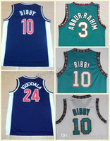 Wholesale best basketball shirts - Best Quality Vancouver 10# Mike Bibby Jersey 3# Shareef Abdur-Rahim Green Shirt Basketball Jerseys Arizona Wildcats College