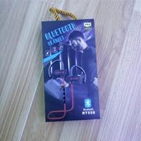 micrófono de gancho para la oreja al por mayor-Nuevo RT558 Auriculares Bluetooth Auriculares inalámbricos Auriculares con cancelación de ruido Sweatproof Auriculares deportivos con micrófono Jogging Ear Hook Headsets