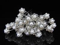 ingrosso scelta sposa-10PCS Perni per capelli da sposa con perle di cristallo Fiore Abiti da sposa Accessori Clip U Pick Diademi Sposa gioielli Copricapo