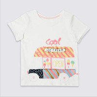 Wholesale Ice Cream T Shirts - 2018 Little Maven NEW ARRIVAL Girls Kids pure Cotton Short Sleeve cartoon ice cream Printed causal summer t shirt Free Shipping