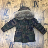 Wholesale Kids White Fur Coat - Camouflage Children's Down Jacket Long Thick Boy Winter Coat Duck Down Kids Winter Jackets for Boy Outerwear Fur Collar