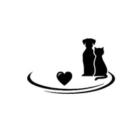 Wholesale browning heart decal - 13CM * 8.2CM Lovely Heart Dog Cat Animal Cute Interesting Vinyl Decor Decals Car Stickers