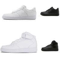 paten ayakkabıları 12 toptan satış-2018 Klasik Tüm Beyaz siyah gri düşük yüksek kesim erkekler kadınlar Spor sneakers Koşu Ayakkabıları bir skate Ayakkabı ABD 5.5-12