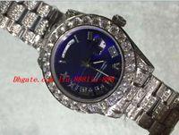 ingrosso carati d'oro-Luxury Watches 2018 36mm White Gold Watch ICED out 24 Carat Diamonds Automatic Orologio da polso da uomo