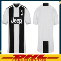 Wholesale can tops - DHL free shipping Top Thai quality JUVENTUS Soccer Jersey 2018 2019 JUVE 2018 Home Football Shirt 2019 Size can be mixed batch S-XXL